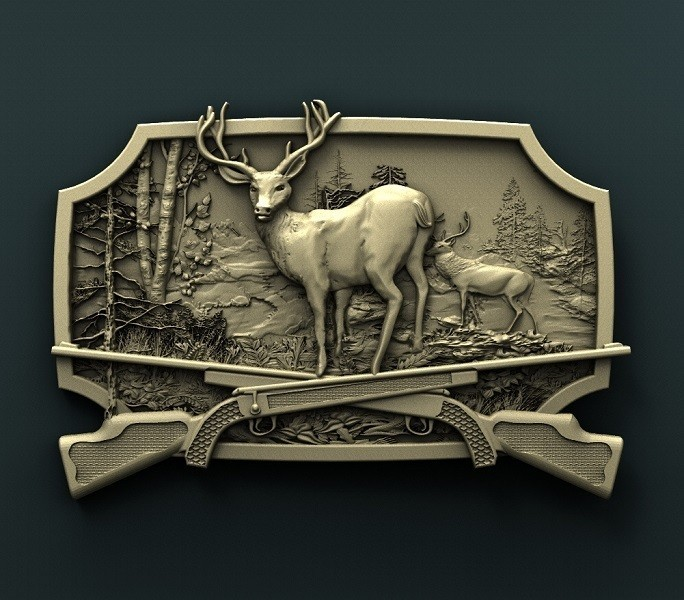 905. Panno.jpg Download free STL file Deer • Model to 3D print, stl3dmodel
