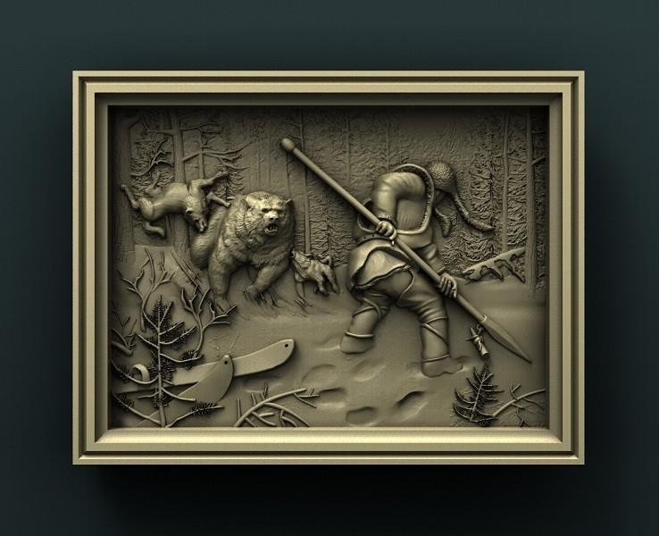 1.jpg Download free STL file Hunting Theme, Bear • 3D printable object, stl3dmodel