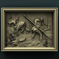 Download free 3D printing templates Hunting Theme, Bear, stl3dmodel