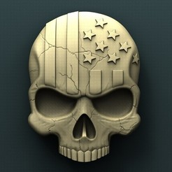 Free STL files American skull, stl3dmodel