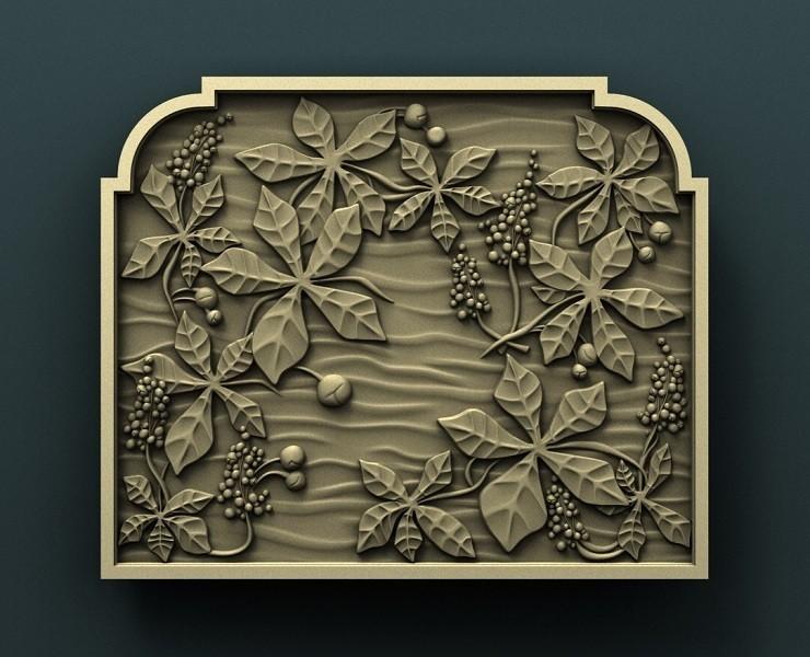 1a.jpg Download free STL file Chestnut wall panel • 3D print template, stl3dmodel