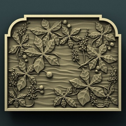 Download free STL file Chestnut wall panel • 3D print template, stl3dmodel