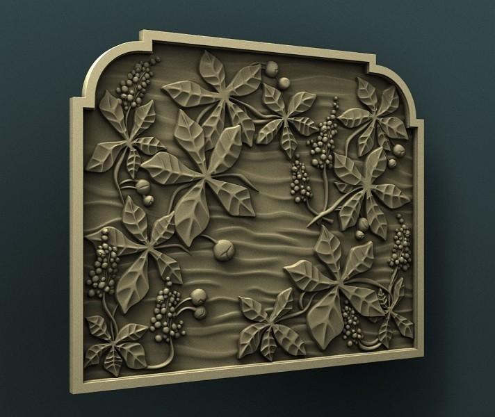 2.jpg Download free STL file Chestnut wall panel • 3D print template, stl3dmodel