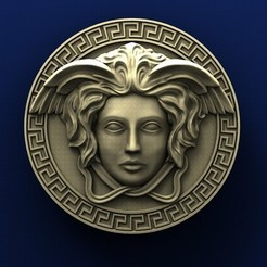 Download free STL file Versace Medallion • 3D printing model, stl3dmodel