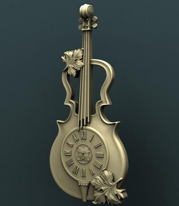 03.jpg Download free STL file Violin Wall Clock • 3D printer model, stl3dmodel