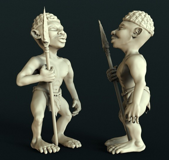 4.jpg Download free STL file African statue • 3D printer design, stl3dmodel