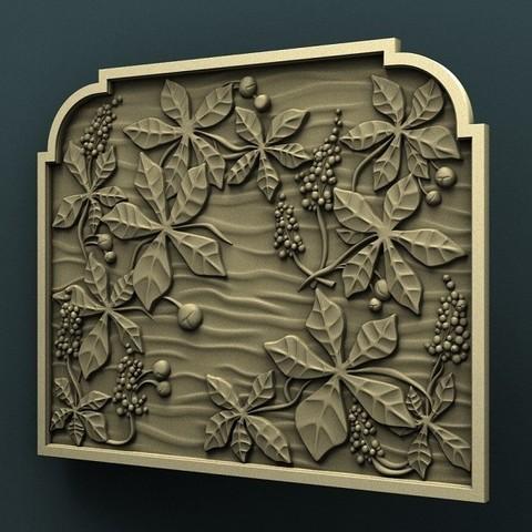 3.jpg Download free STL file Chestnut wall panel • 3D print template, stl3dmodel