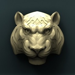 Download free STL files Tiger, stl3dmodel