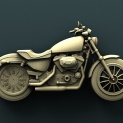 Download free STL files Harley Davidson Wall Clock, stl3dmodel