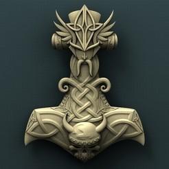 Télécharger STL gratuit Le marteau de Thor, stl3dmodel