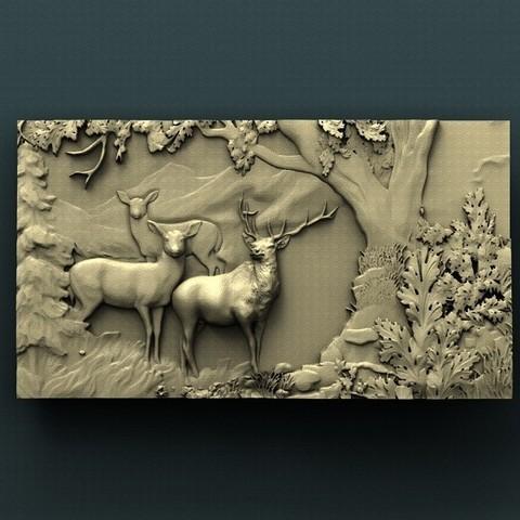 Download free 3D print files Deer, stl3dmodel