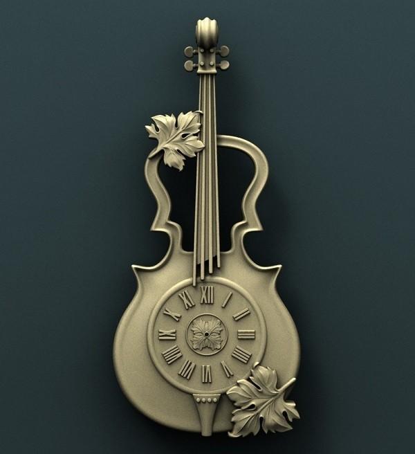 1028. Wall_Clock.jpg Download free STL file Violin Wall Clock • 3D printer model, stl3dmodel
