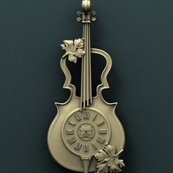 Download free 3D printing designs Violin Wall Clock, stl3dmodel