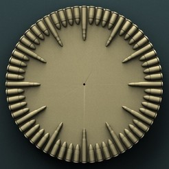 3d printer designs Wall Clock Bullets, Agorbar