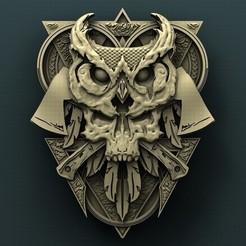 stl file Skull owl, Agorbar