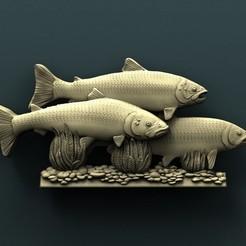 3d printer files Salmon fish, Agorbar