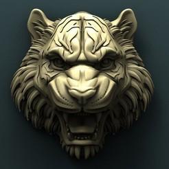 Download free STL files Tiger head, stl3dmodel