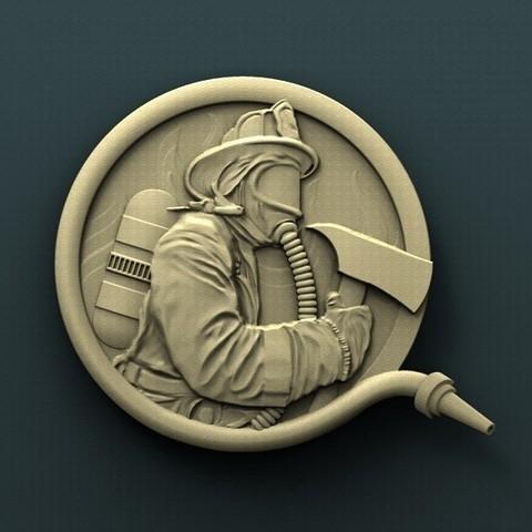 Télécharger plan imprimante 3D gatuit Pompier, stl3dmodel