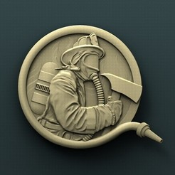 Download free STL Firefighter, stl3dmodel