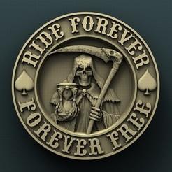 Download free 3D printing files Harley Davidson skull, stl3dmodel