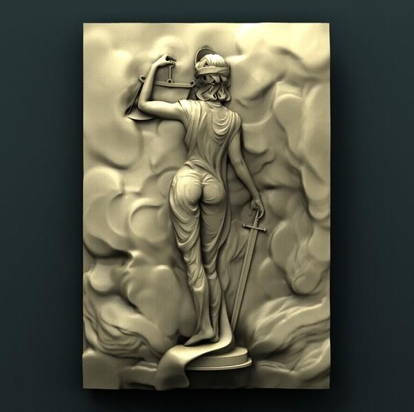 617 Панно.jpg Télécharger fichier STL gratuit Femida • Design imprimable en 3D, stl3dmodel