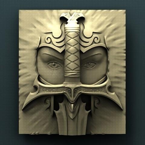 Télécharger objet 3D gratuit Guerrier, stl3dmodel