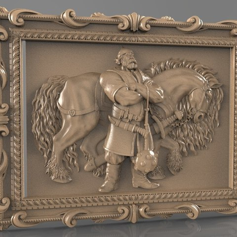 Free STL files troll with big horse soldier knight, stl3dmodel