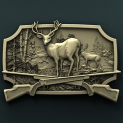 Download free 3D print files Deer, stl3dmodel