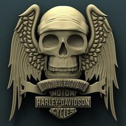 3d model Harley Davidson skull, Agorbar