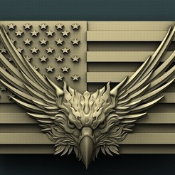 Download free STL USA Eagle, stl3dmodel