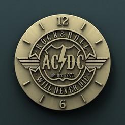 3d printer designs AC DC Wall Clock, Agorbar