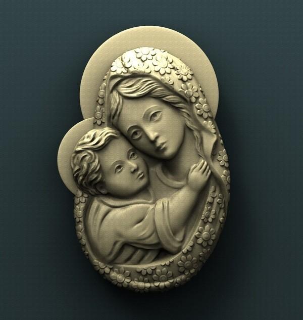 426. Virgin Mary.jpg Download free STL file Virgin Mary • Model to 3D print, stl3dmodel