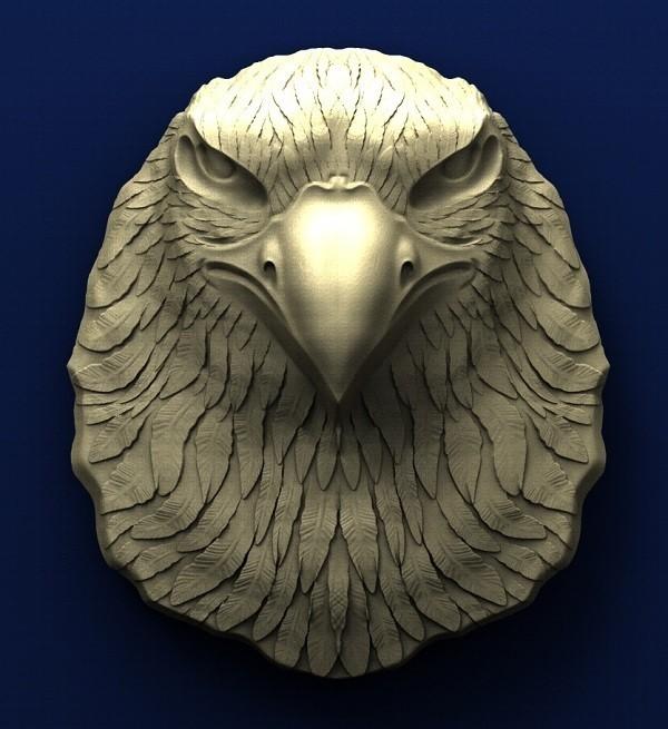 A011. Eagle Head.jpg Télécharger fichier STL gratuit Tête d'aigle • Design à imprimer en 3D, stl3dmodel