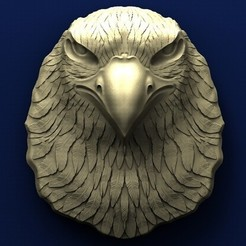 Download free 3D printer model Eagle head, stl3dmodel