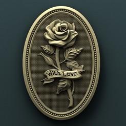 Plan imprimante 3D gatuit Roses, stl3dmodel