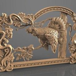 Download free STL file pheasant on a tree cnc router • 3D printable model, stl3dmodel