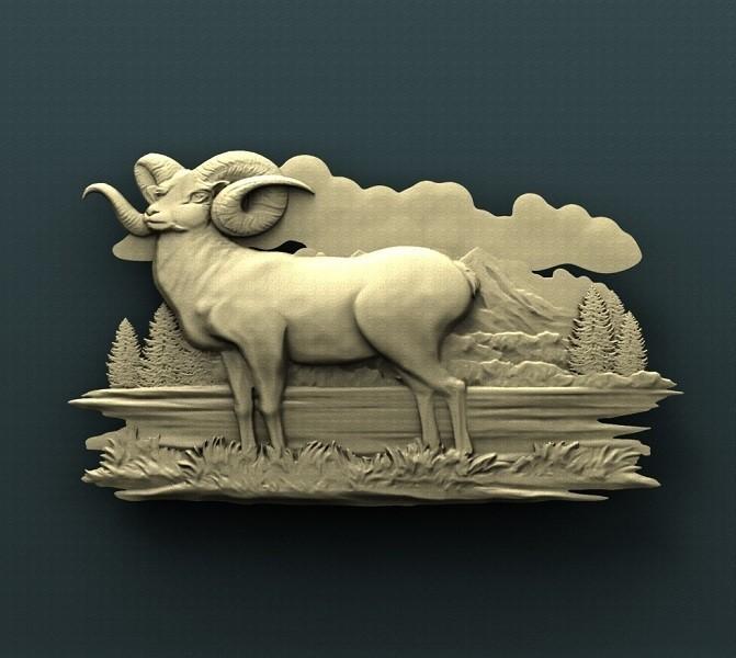 B243.jpg Download free STL file Ram • 3D printable design, stl3dmodel