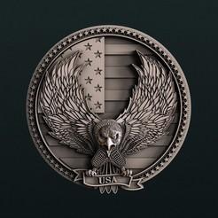 diseños 3d Águila Americana, Agorbar