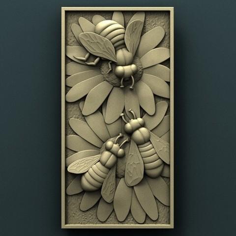 Imprimir en 3D gratis Abejas, stl3dmodel