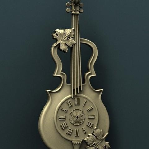02.jpg Download free STL file Violin Wall Clock • 3D printer model, stl3dmodel