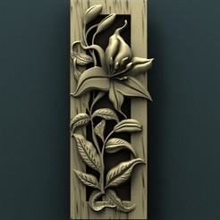 Free 3D model Floral wall panel, stl3dmodel