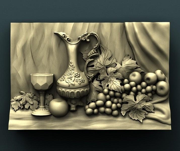 931_Panno.jpg Télécharger fichier STL gratuit Raisin et vin • Objet pour impression 3D, stl3dmodel
