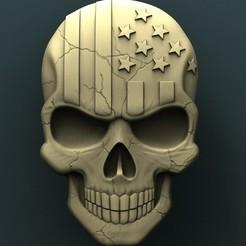 Plan imprimante 3D gatuit crâne américan, stl3dmodel