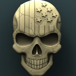 Free STL files Amerikan skull, stl3dmodel