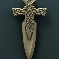 3d print files Celtic Dagger, Agorbar
