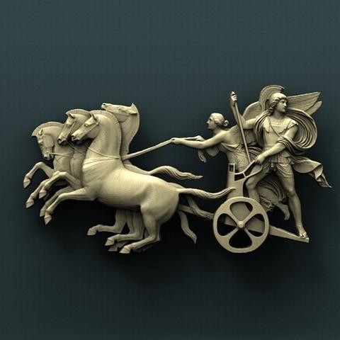 Download free 3D printing templates Battle chariot, stl3dmodel