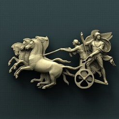 Free 3D print files Battle chariot, stl3dmodel
