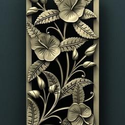 archivos stl Panel floral, Agorbar