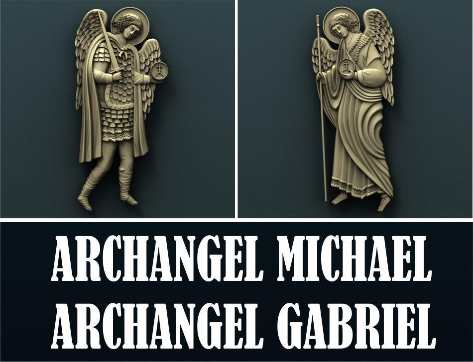 0.jpg Download free STL file Archangel Gabriel and Archangel Michael • 3D printing model, stl3dmodel
