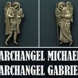 Download free 3D printing templates Archangel Gabriel and Archangel Michael, stl3dmodel